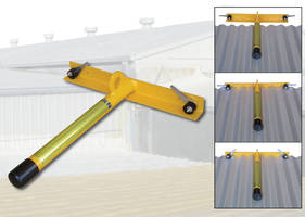 Temporary Roof Anchor is for use on metal roofs.