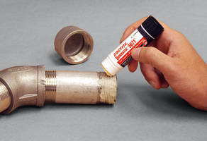 Semisolid Pipe Sealant Stick does not spill or leak.
