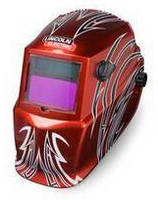 Auto-Darkening Welding Helmet has solar-powered design.