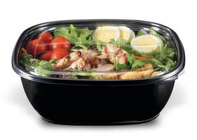 Food Packaging Bowls are made from food-grade recycled PET.