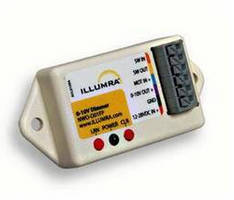 LED Dimmer delivers 0-10 V control.