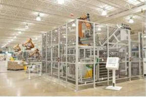 Transfer and Storage System utilizes robotic technology.
