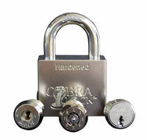 Solid Steel Padlocks allow user to change lock cylinder.