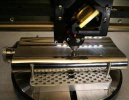 Desktop Engraver employs laser and diamond drag methods.