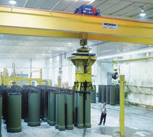 Crane System accelerates automated concrete pipe production.
