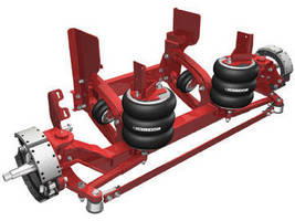 Lift Axles feature flexible tie rod and dampening system.