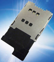 Low-Profile, 6-Pin SIM Card Reader features tray function.