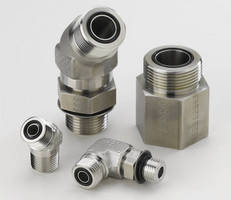 Face Seal and Flange Adapters suit harsh-duty applications.