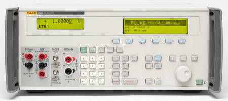 Analog/Digital Test Instrument Calibrator has robust protection circuitry.