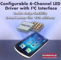 6-Channel LED Drivers suit TFT LCDs in mobile electronics.