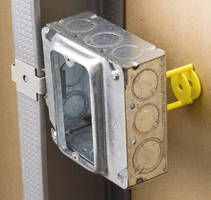 Electric Box Supports provide stability in low-voltage applications.