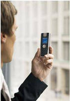 DECT-based Handheld Phone offers interference-free operation.