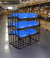 Warehouse Picking Carts provide 750 lb capacity.