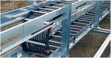 Rail Cable Carrier covers 500+ m travel lengths.