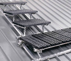 Slip-Resistant Walkway provides safety on roof surfaces.