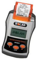 Battery and System Tester incorporates thermal printer.