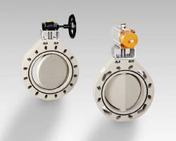 Wafer-Style Butterfly Valves come in 14-24 in. sizes.