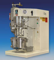 Pressurized Dual Shaft Mixer operates with internal pressure to 15 psig.