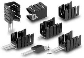 Attachable Heatsinks suit TO220s with thin base plates.
