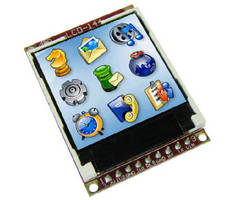 Intelligent LCD Display Modules provide 128 x 128 resolution.