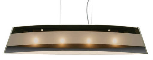 Linear Pendant Luminaire offers choice of glass decores.