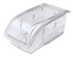 Polycarbonate Bins offer clear storage alternative.