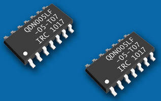 SMT TVS Diode Arrays protect multiple circuit traces.