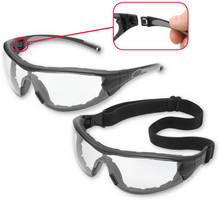 Protective Eyewear can be used as glasses or goggles.