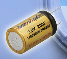 Hybrid Lithium Ion Capacitors have max rated voltage of 3.8 V. .