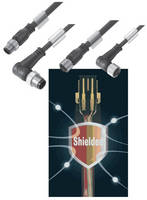 Fully Shielded M12 Cables come in 3, 4 and 5 pole versions.
