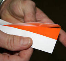 Vinyl Labeling Tape  features slit liner for easy separation.