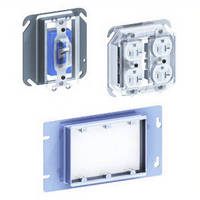 Plastic Electrical Covers keep devices safe during drywall finishing.