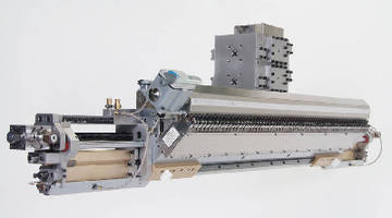 Extrusion Coating Die facilitates changes in product width.