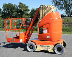 Vertical Mast Boom Lift provides platform height of 26 ft.
