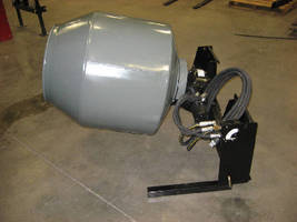 Skid Steer Mixer handles up to 5 cu-ft of concrete.