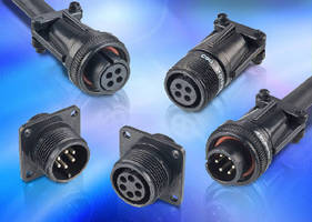 Mil-C-Style Connectors are IP67-rated and RoHS compliant.