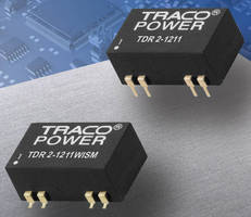 High-Density DC/DC Converters offer remote on/off control.