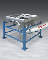 Bulk Bag Unloader has flexible screw conveyor.