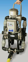 Double Diaphragm Pump has programmable variable speed drive.