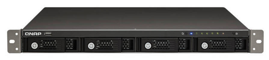 Rack-Mounted NAS Server offers up to 12 TB storage capacity.