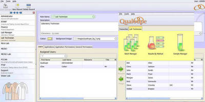 LIMS Software features role-specific user interface.