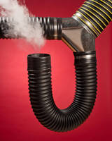 Thermoplastic Rubber Hosing features thermally welded cuffs.