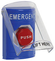 Pushbutton Cover provides sound and/or wireless signal alerts.