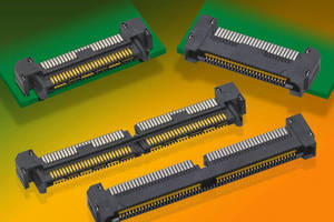 Right-Angle High-Speed Connector Strips have slim design.