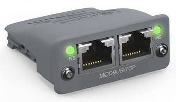 Modbus TCP 2-Port Module eliminates need for external switches.