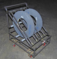 Transfer Cart moves grinding wheels from toolrooms to machines.