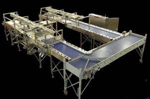 Automated Retort Basket Loading System offers high throughput.