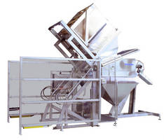 Tote Dumping System fosters sanitary material transfers.