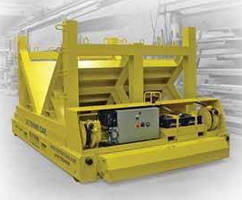 Steerable Transfer Carts carry heavy coils and rolls.