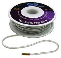 Anti-Static Cord stretches to double its length.